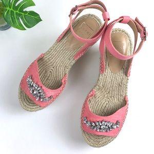 Kaari Blue Chloe Jewel Espadrilles Sandals Sz 8